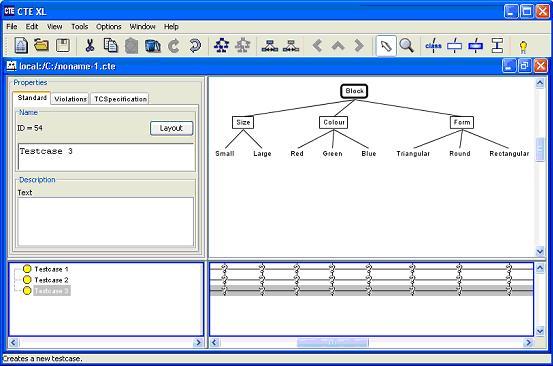 利用分类树方法设计测试用例