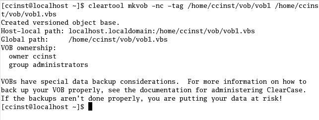 Fig2.1 在VOB服务器端创建VOB